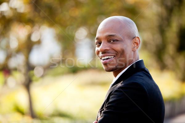 Hombre de negocios cara hombre feliz Foto stock © SimpleFoto