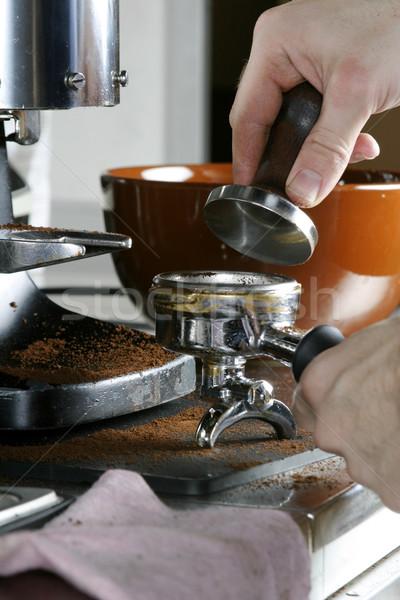Tamping Espresso Stock photo © SimpleFoto