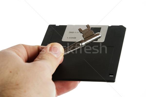 Secure Disk Stock photo © SimpleFoto
