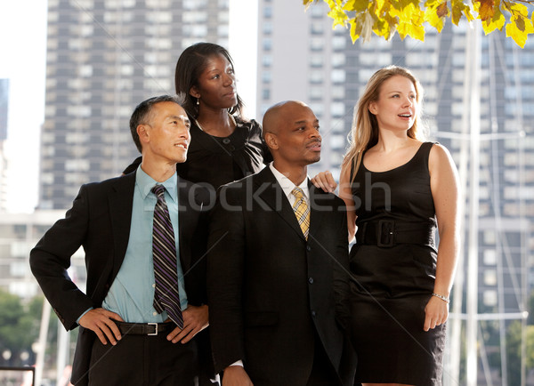 Business Team Looking to the Side Stock photo © SimpleFoto