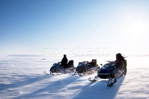 Snowmobile Winter Stock photo © SimpleFoto