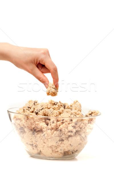 Bolinhos gosto corpo mão comida chocolate Foto stock © SimpleFoto