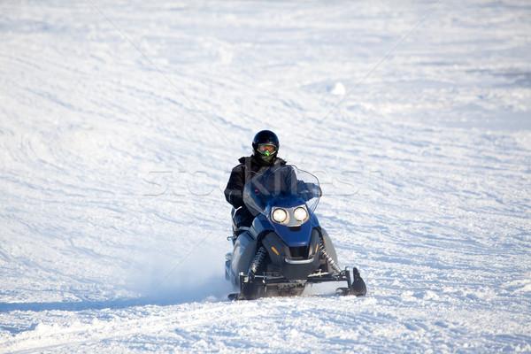изолированный зима снега пейзаж человека спорт Сток-фото © SimpleFoto