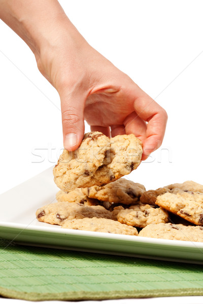 Cookie tentazione piatto cioccolato chip Foto d'archivio © SimpleFoto