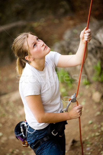Female Belayer Stock photo © SimpleFoto