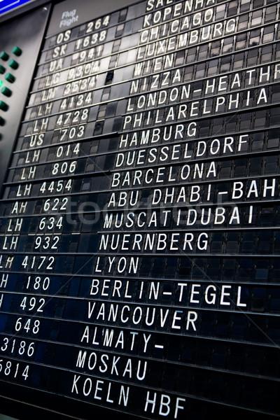 Gidiş göstermek tahta havaalanı varış doku Stok fotoğraf © SimpleFoto