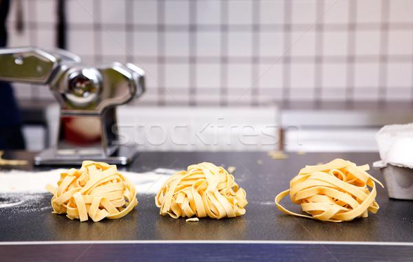 Fresh Fettuccine Stock photo © SimpleFoto