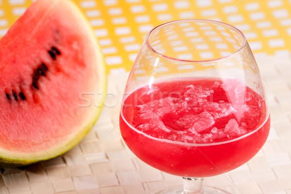 Stock fotó: Görögdinnye · dzsúz · piros · ital · piknik · asztal · víz