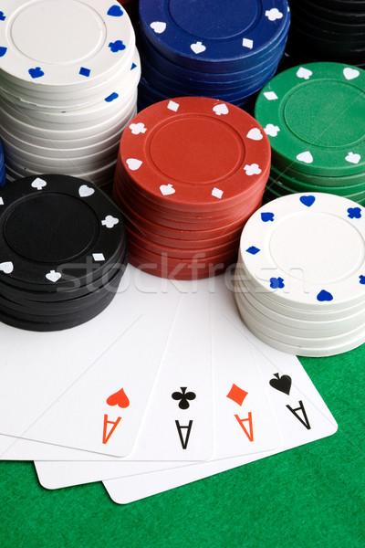 Four Aces Stock photo © SimpleFoto