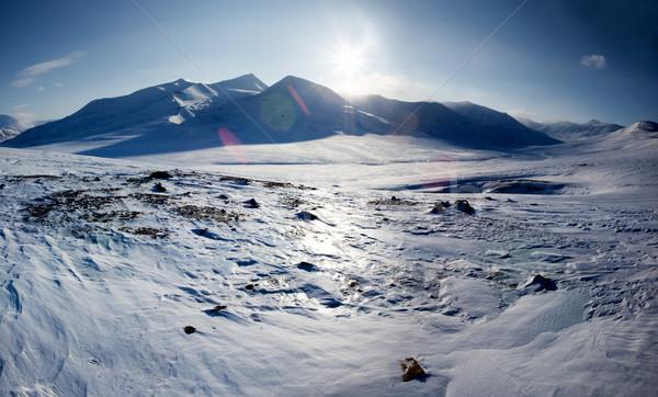 Snow Covered Mountain Stock photo © SimpleFoto