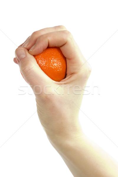 Orange in Hand Stock photo © SimpleFoto