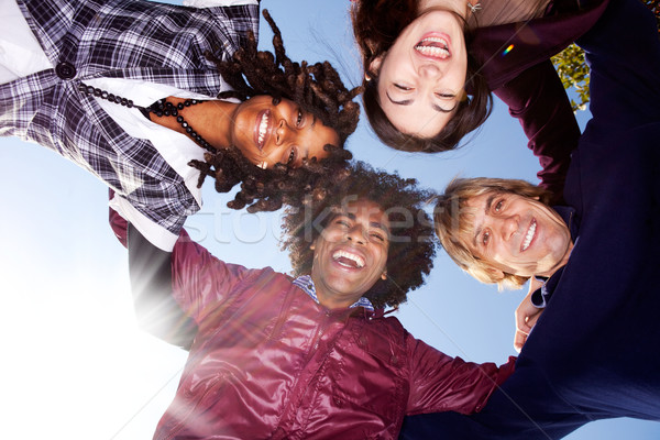 Happy Friend Group Stock photo © SimpleFoto