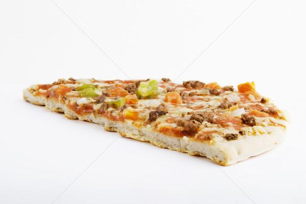 Sklepu kupiony pizza biały energii Zdjęcia stock © SimpleFoto