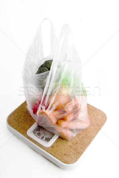 здорового выбора овощей пластиковых продуктовых сумку Сток-фото © SimpleFoto