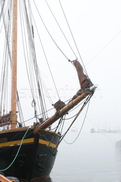 Pirate Ship in Fog Stock photo © SimpleFoto