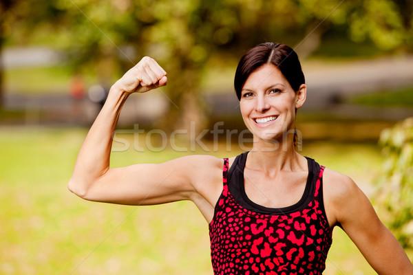 Kobieta fitness dość fitness model szczęśliwy zdrowia Zdjęcia stock © SimpleFoto