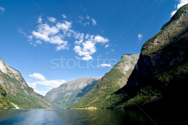 Norvegia occidentale cielo montagna Ocean barca Foto d'archivio © SimpleFoto