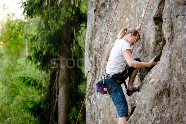Female Climber Stock photo © SimpleFoto
