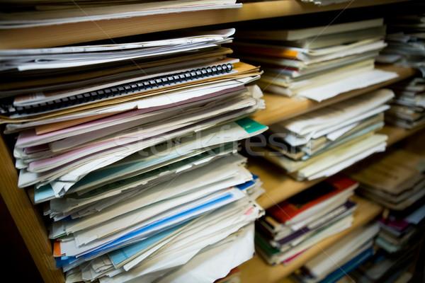 Carta vecchio note musicali poco profondo campo focus Foto d'archivio © SimpleFoto