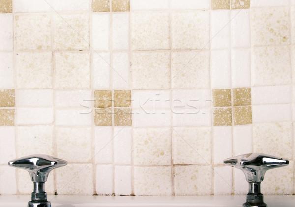 Retro umywalka kran dotknij moda domu Zdjęcia stock © SimpleFoto