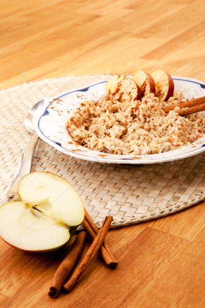 Stock photo: Apple Cinnamon Porridge
