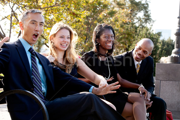 Amusement affaires blague groupe gens d'affaires Photo stock © SimpleFoto