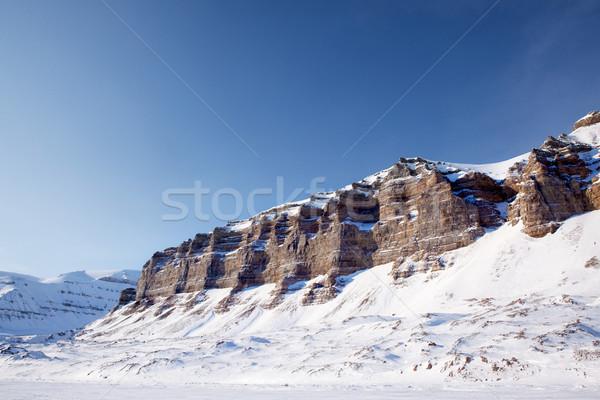 Hegy tél tájkép panoráma sziget természet Stock fotó © SimpleFoto