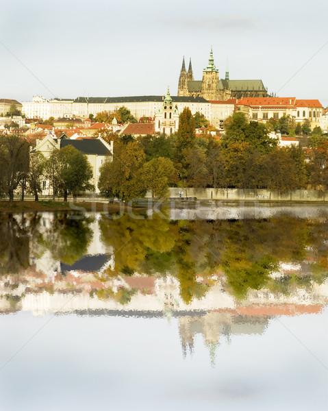 Prague Castle and River Stock photo © SimpleFoto
