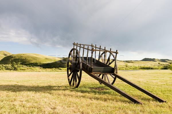 Old Wooden Cart Stock photo © SimpleFoto
