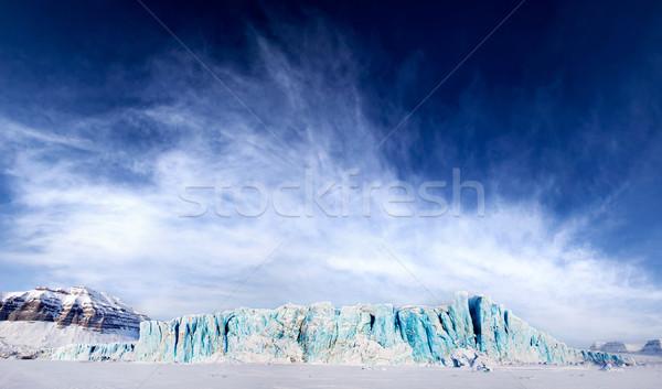 Stock fotó: Gleccser · drámai · panoráma · sziget · természet · hegy