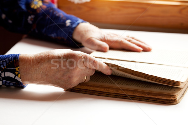 Elderly Reading Stock photo © SimpleFoto