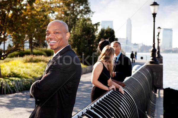 Negocios retrato hombre de negocios sonrisa Foto stock © SimpleFoto