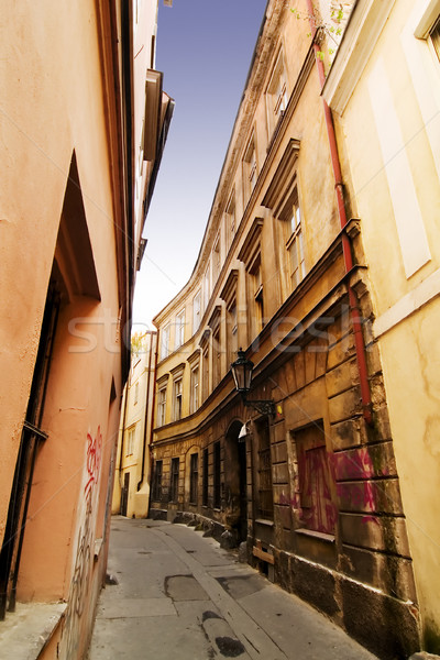 Quaint Street Prague Stock photo © SimpleFoto