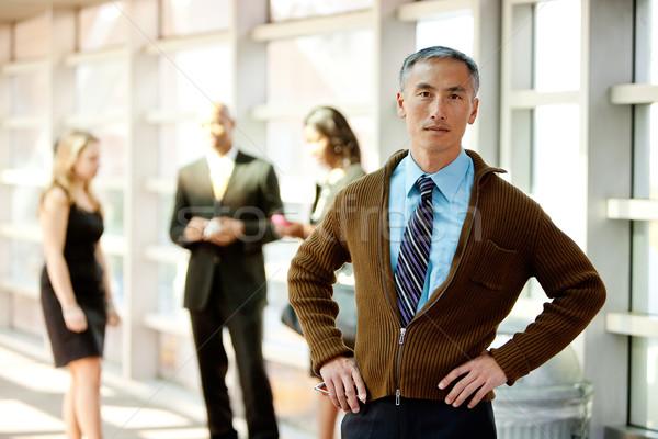 Foto stock: Casual · hombre · de · negocios · Asia · mirando · colegas · cara