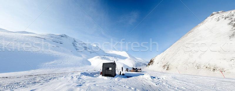 Winter Base Camp Stock photo © SimpleFoto