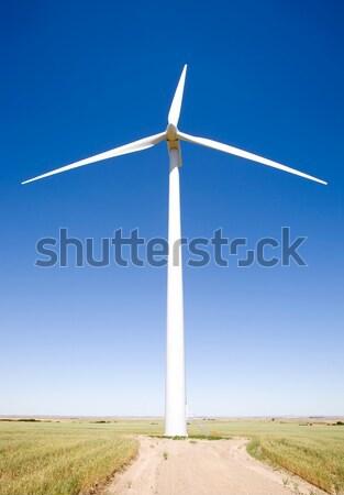ветровой турбины прерия земле области зеленый Сток-фото © SimpleFoto