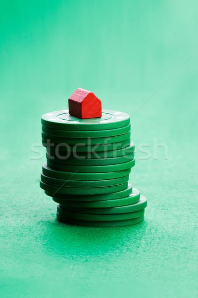 Casino chips speelgoed huis gokken business Stockfoto © SimpleFoto