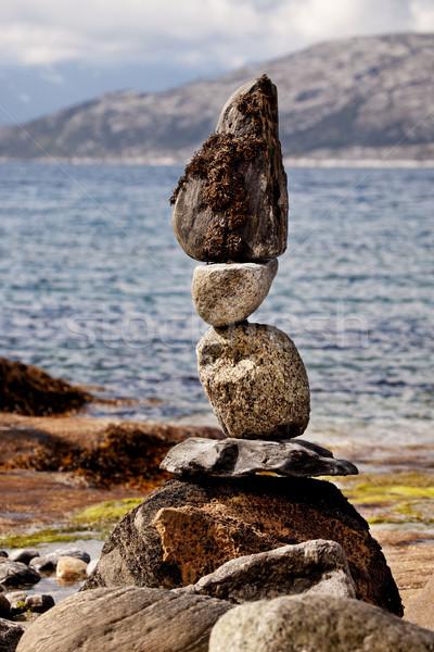 Rock Stacking Sculpture Stock photo © SimpleFoto