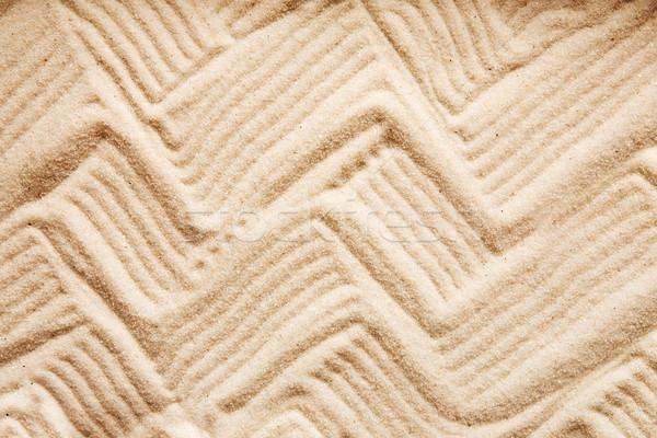 Zig Zag Sand Stock photo © SimpleFoto