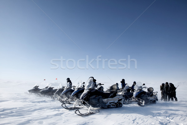 Snowmobile Group Stock photo © SimpleFoto