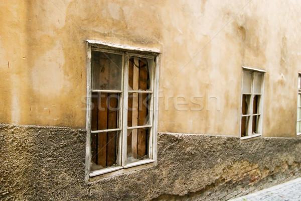 Szeszélyes fal gabona absztrakt kép Prága Stock fotó © SimpleFoto