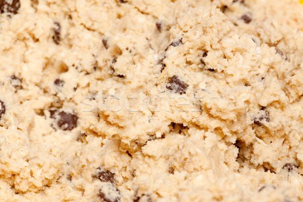 Foto stock: Cookie · detalle · madera · cuchara · alimentos · fondo