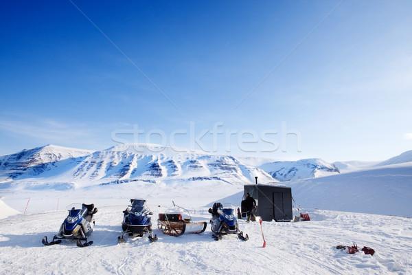 Stock photo: Winter Base Camp