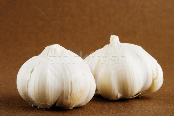 Knoflook kruidnagel donkere voedsel natuur witte Stockfoto © SimpleFoto