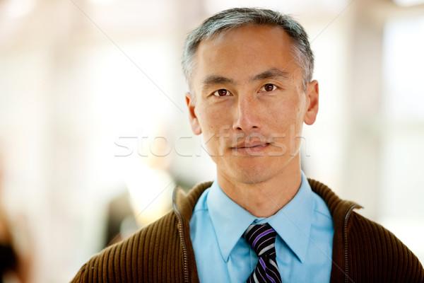Foto stock: Casual · homem · de · negócios · retrato · colegas · cara · homem