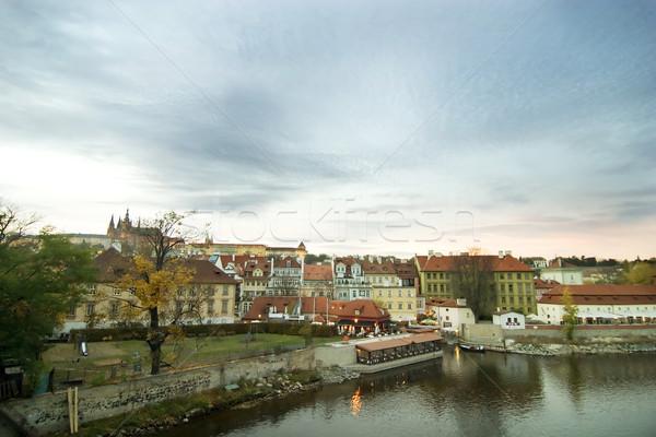Cityscape with Castle - Prague Stock photo © SimpleFoto
