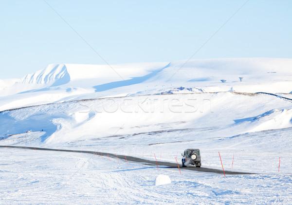 Truck in Winter Stock photo © SimpleFoto