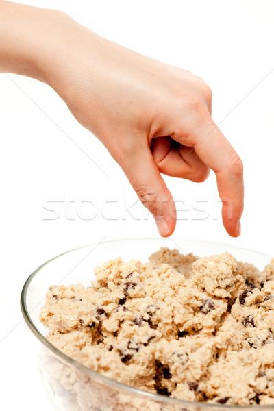 Foto stock: Cookie · comer · mano · tazón · crudo · alimentos