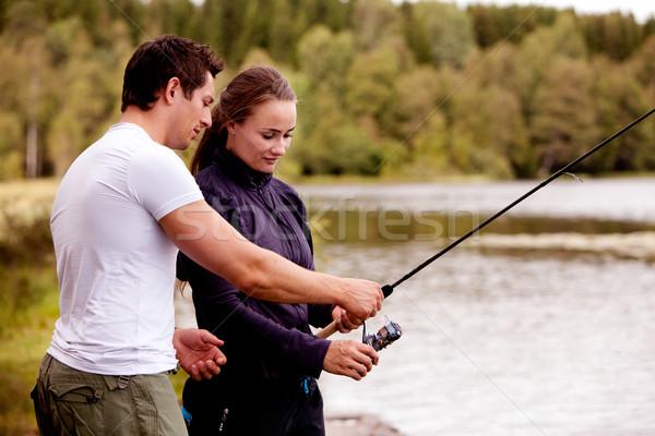 Teach Fishing Stock photo © SimpleFoto