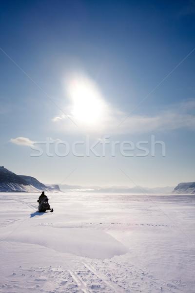 горные зима пейзаж заморожены льда бесплодный Сток-фото © SimpleFoto